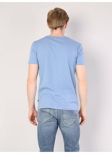 Colin's V Yaka T-Shirt Mavi